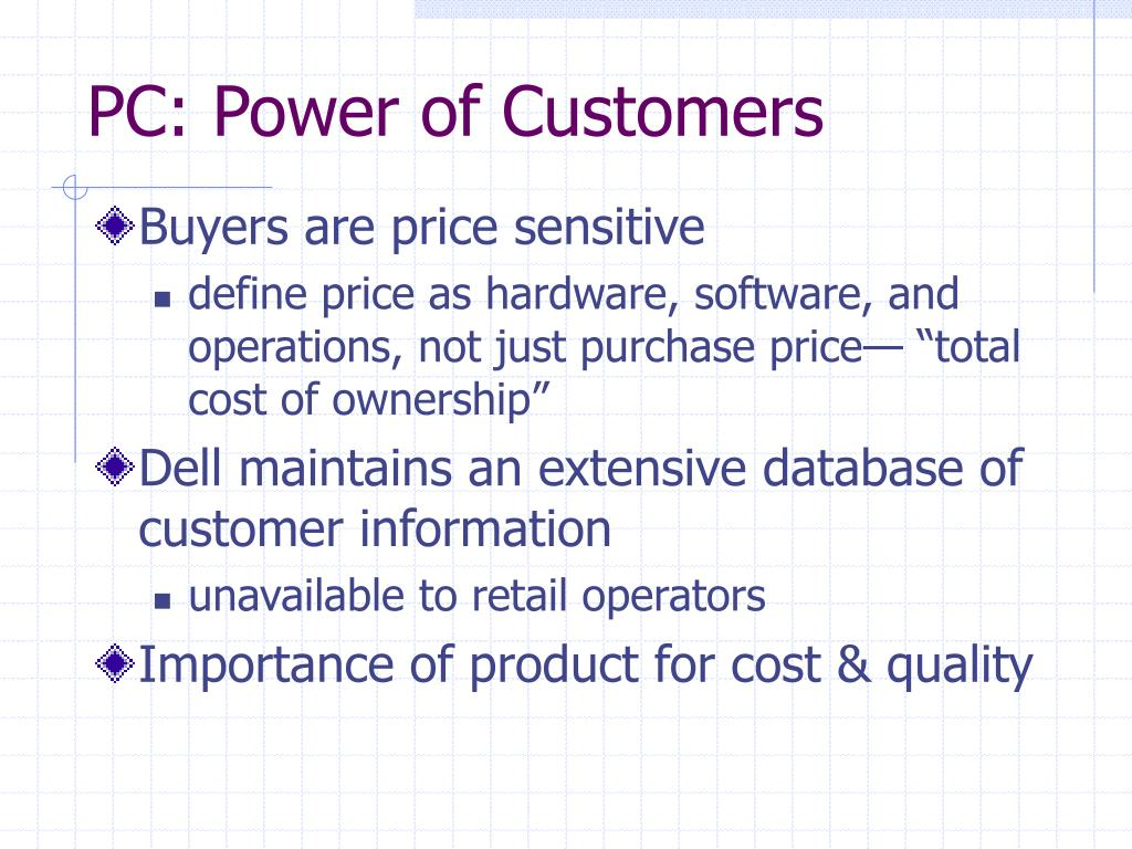 PC: Power of Customers