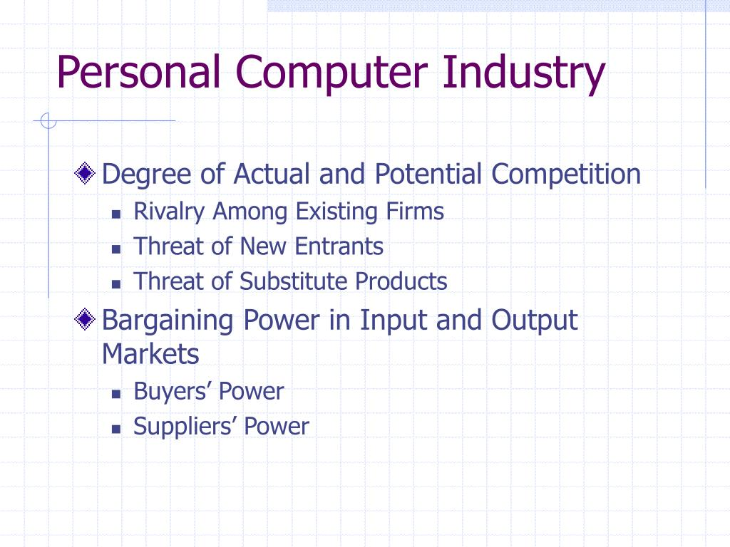 Personal Computer Industry