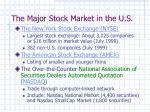 the major stock market in the u s