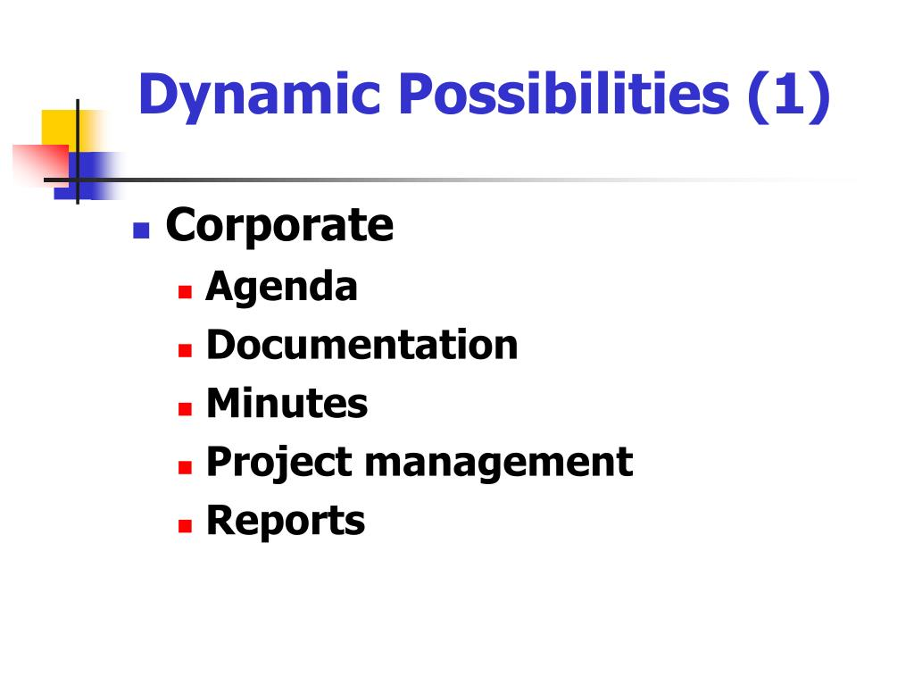 Dynamic Possibilities (1)