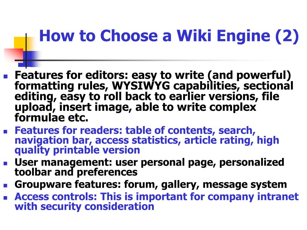 How to Choose a Wiki Engine (2)