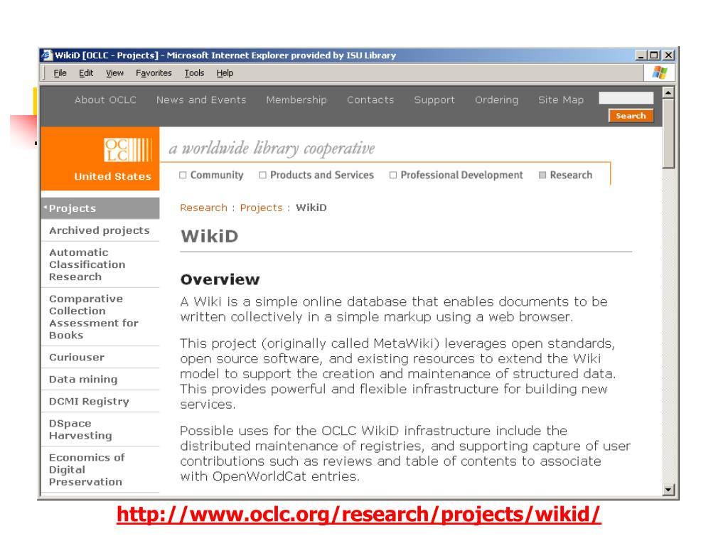 http://www.oclc.org/research/projects/wikid/