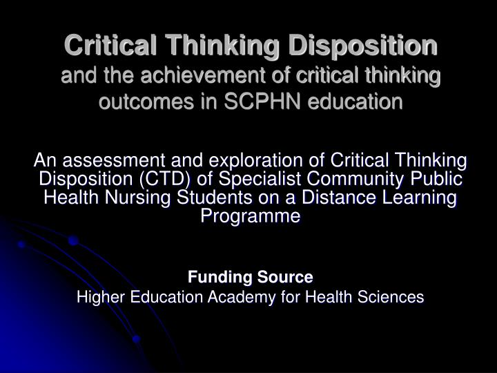 critical thinking education definition