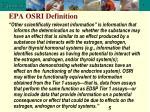 epa osri definition