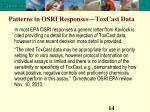 patterns in osri responses toxcast data14