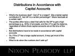 distributions in accordance with capital accounts