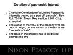 donation of partnership interest