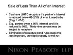 sale of less than all of an interest