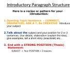 introductory paragraph structure