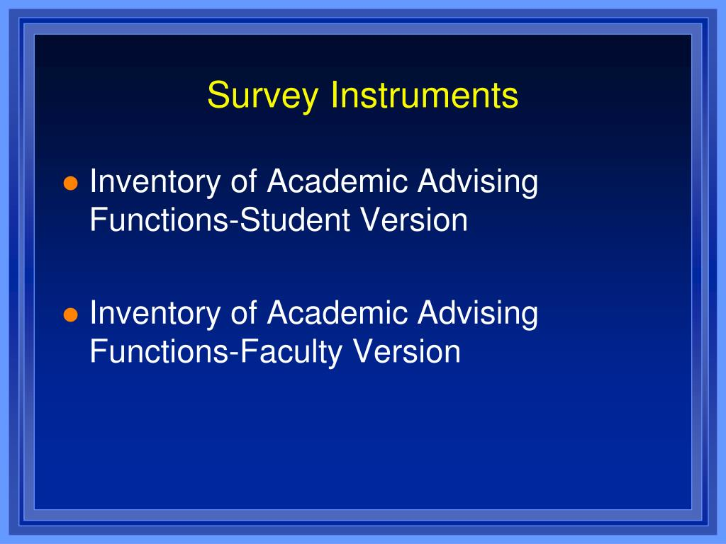 Survey Instruments