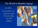 the world is rapidly aging