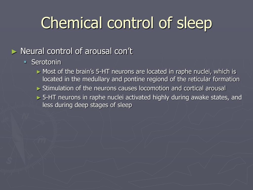 Chemical control of sleep