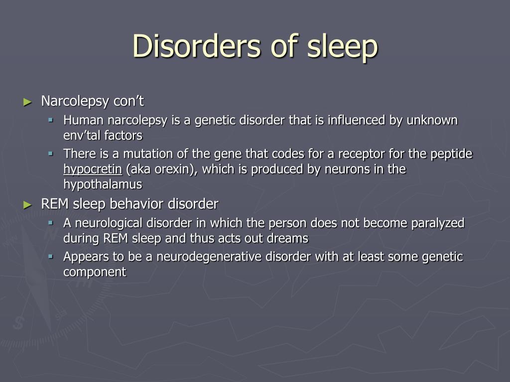 Disorders of sleep