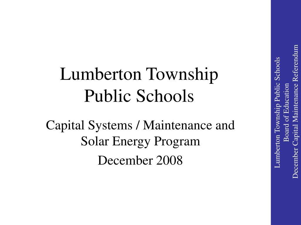 lumberton township public schools l.