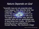 nature depends on god20