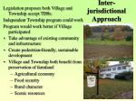 inter jurisdictional approach