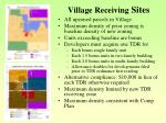village receiving sites