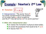 example newton s 2 nd law