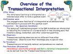 overview of the transactional interpretation