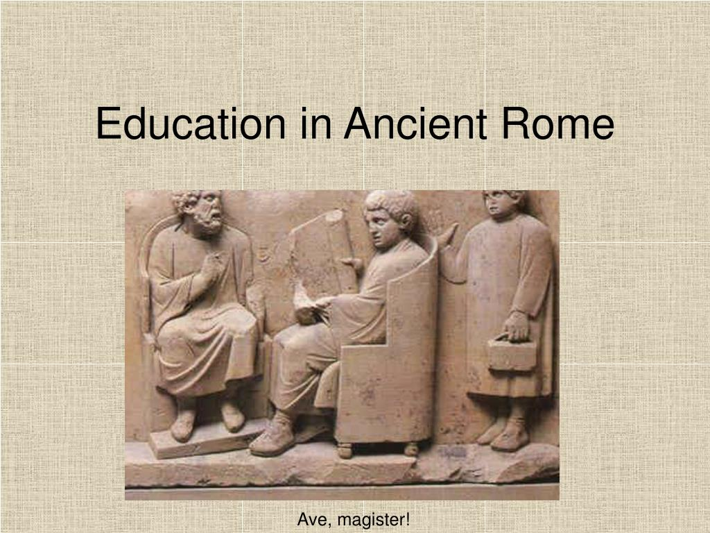 education in ancient rome l.