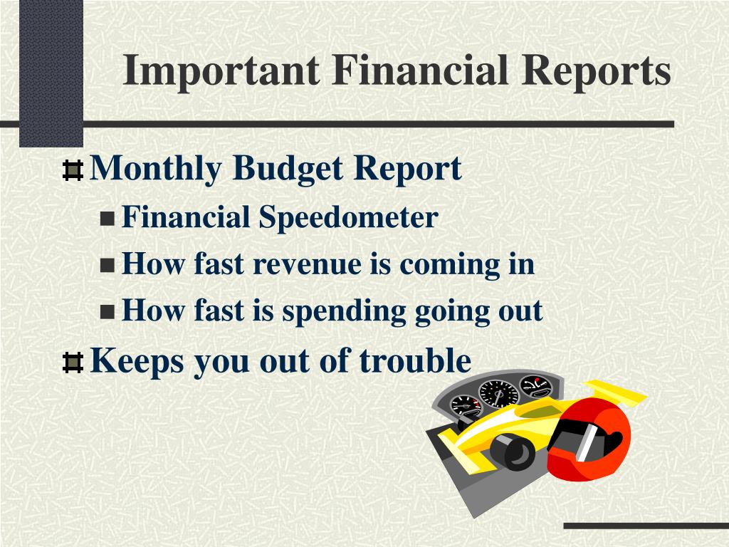 Important Financial Reports
