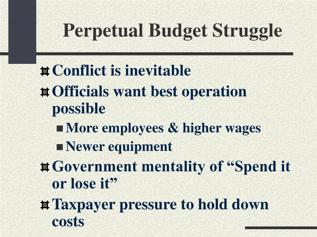 Perpetual Budget Struggle