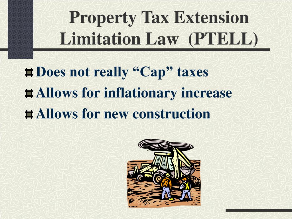 Property Tax Extension Limitation Law  (PTELL)