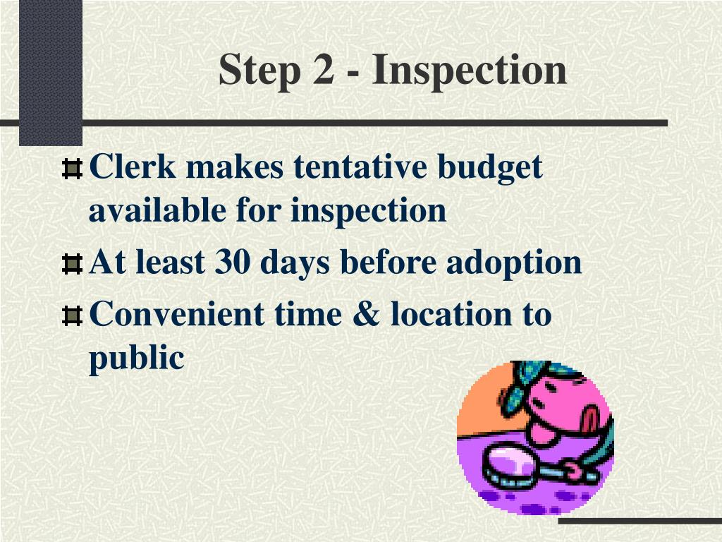 Step 2 - Inspection