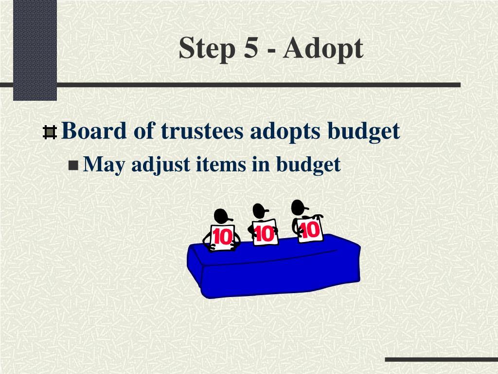 Step 5 - Adopt