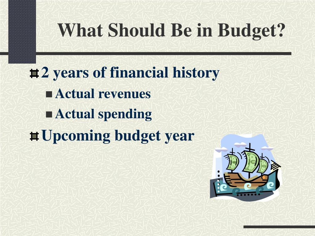 What Should Be in Budget?