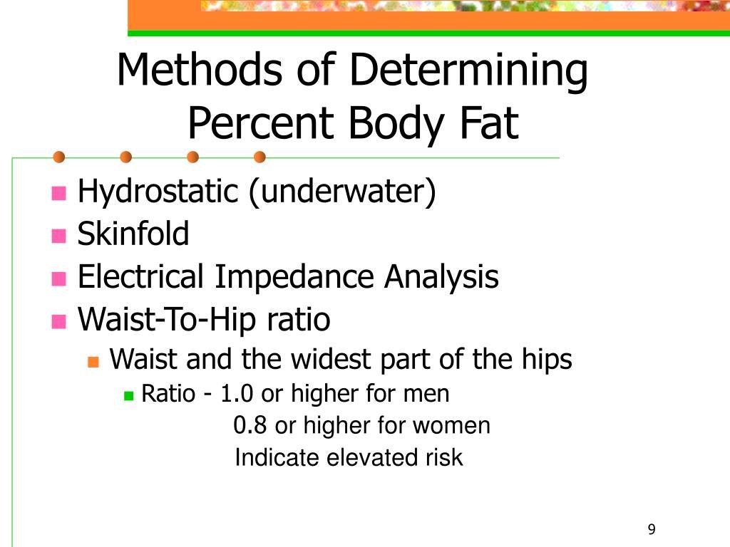 Methods of Determining Percent Body Fat