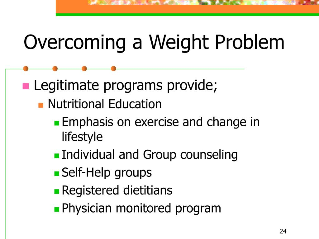 Overcoming a Weight Problem