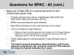 questions for bpac 3 cont45