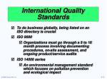 international quality standards