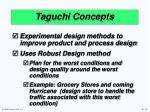 taguchi concepts