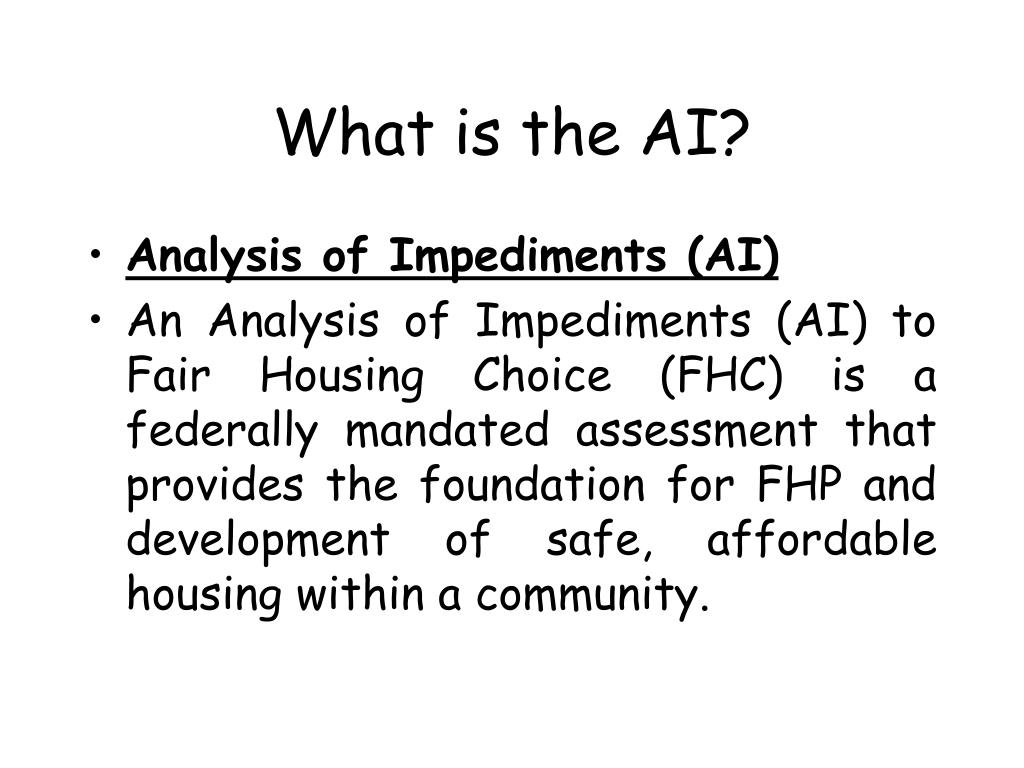 What is the AI?