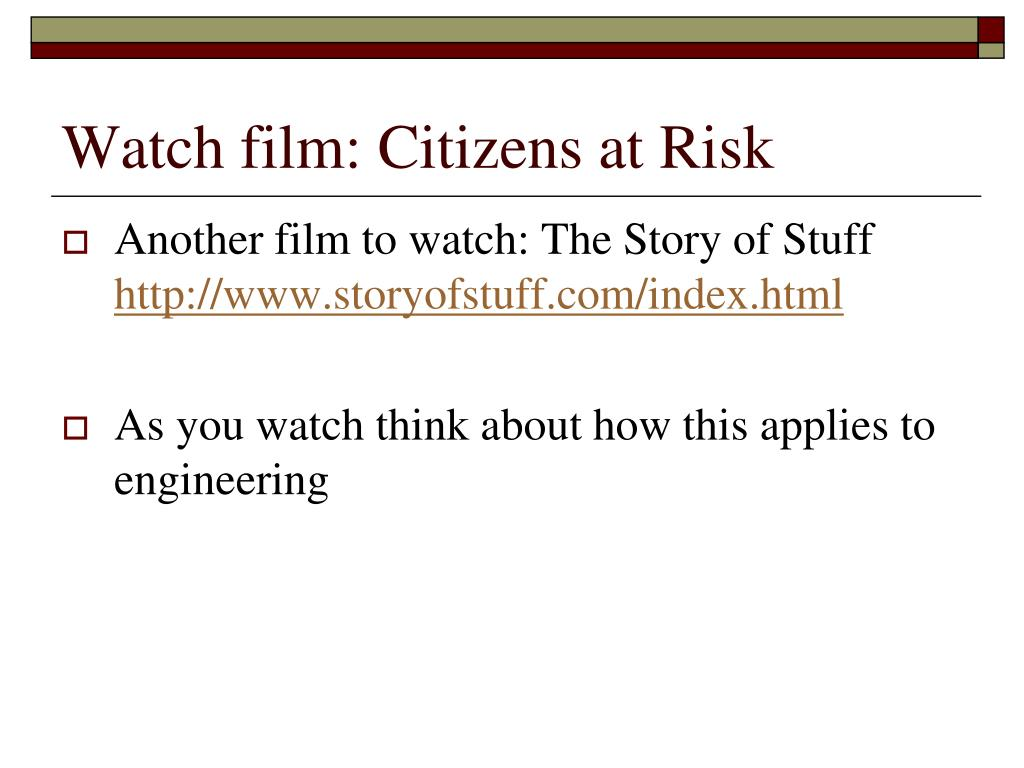 Watch film: Citizens at Risk