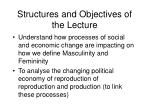 structures and objectives of the lecture