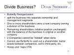 divide business