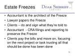 estate freezes
