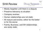 sha review