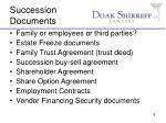 succession documents