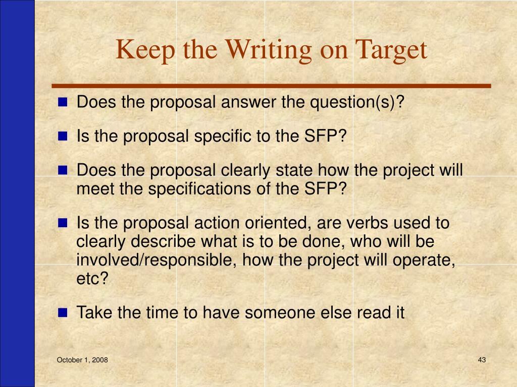 Keep the Writing on Target
