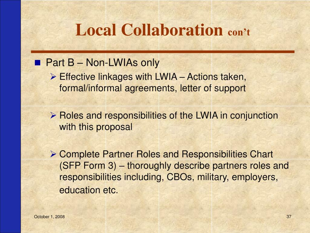 Local Collaboration