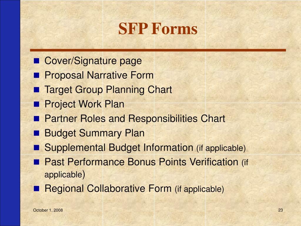 SFP Forms