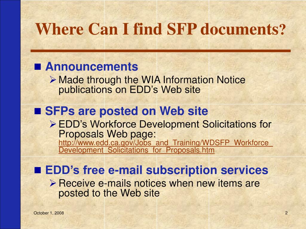 Where Can I find SFP documents