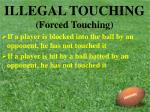illegal touching forced touching