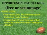 opportunity catch a kick free or scrimmage22