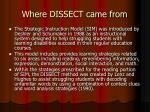 where dissect came from
