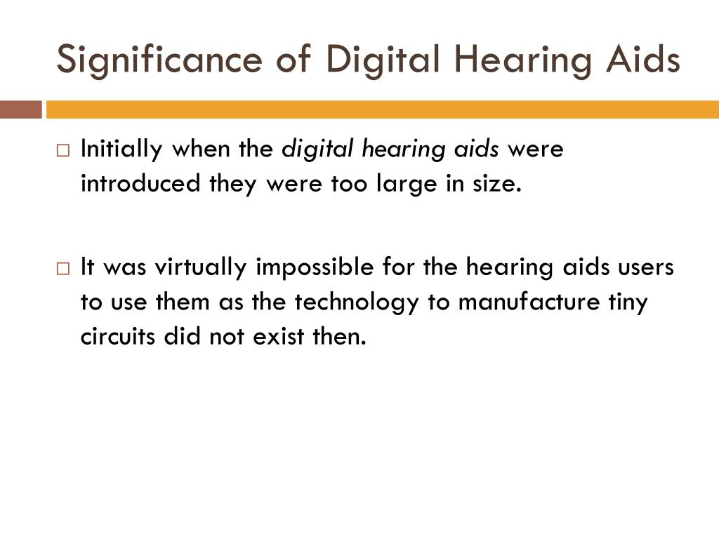 Significance of Digital Hearing Aids